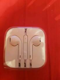 Official IPhone ear phones never used