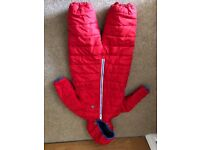 Next red snowsuit size 1.5 to 2