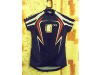 Ladies Moozes Teamline 2010 Cycling Shirt. Black, Red & White. – Sizes: XS = UK 10, and L = UK 14