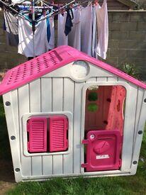 Pink kids house