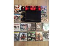 Playstation 3 Super Slimline 500gb Bundle 14 Top Games 2 Pads All Leads Excellent Condition