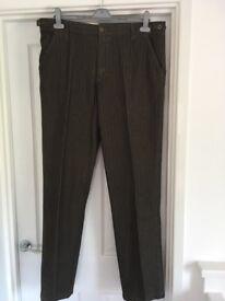 Men's (John Lewis) trousers Size 36L Brown (with slight stripe)