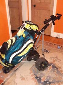 Powakaddy electric trolley & Sun Mountain cart bag