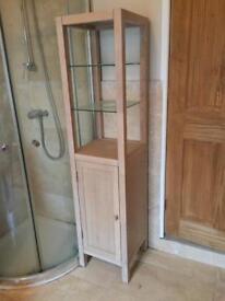 Pair of John Lewis oak bathroom cupboards