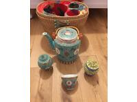 Rare & unusual - Boxed Chinese Teapot , Jars & Cup Set