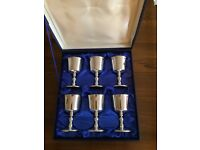 Wine goblets - silver plated - collect only
