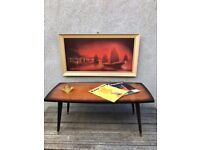1950s Vintage Coffee Table with Dansette Legs