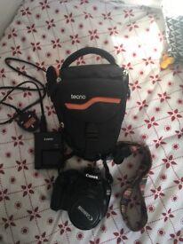 Canon EOS 1100D camera & case.