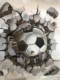 3D football wall art sticker