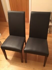 5 leather Debenhams chairs good condition £50