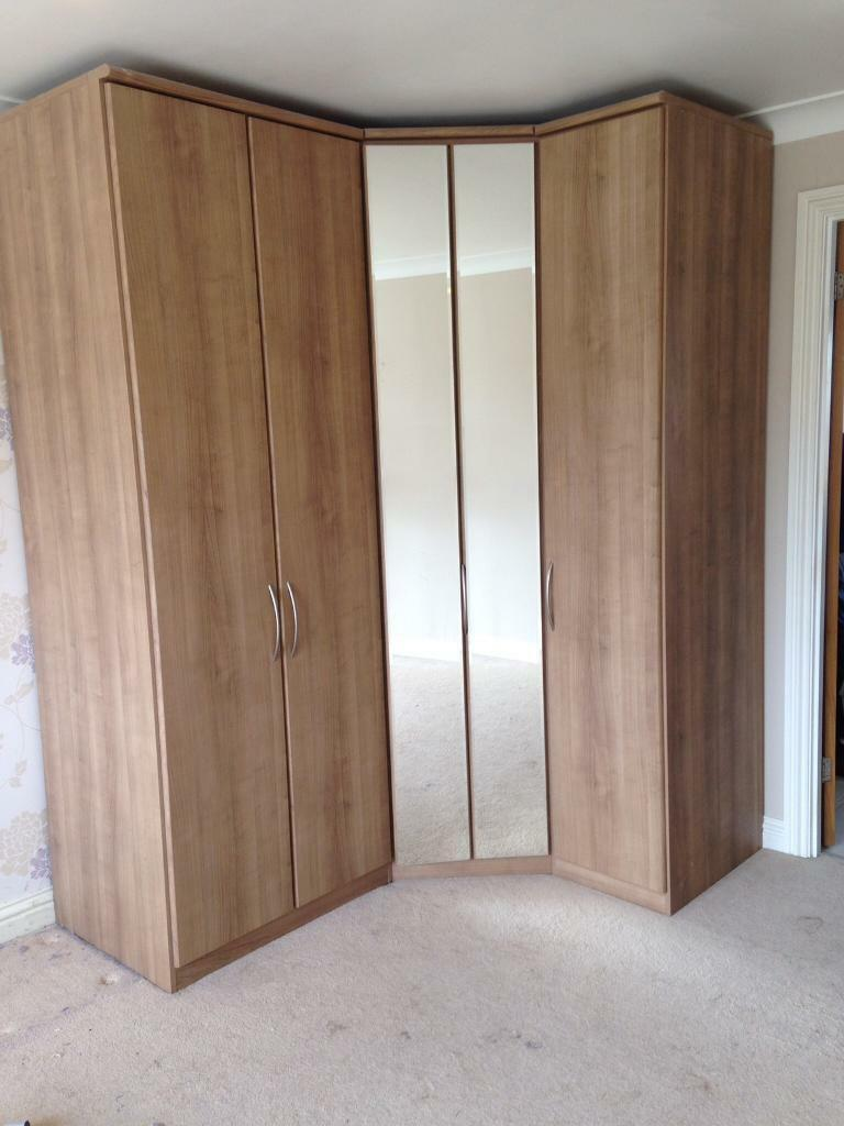 Bedroom furniture set corner wardrobe by nolte in for Armoire nolte prix