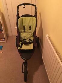 Phil and Teds pram isofix car seat double kit including peanut and all accessories