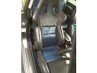 Genuine Mini JCW SPARCO Interior Seats DRIVER AND PASSENGER FRONT PAIR.