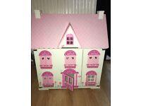 Rosebud wooden dolls house. Furniture. Ice cream van. People. Excellent condition.