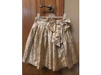 Next girls Metalic Gold Party skirt age 7