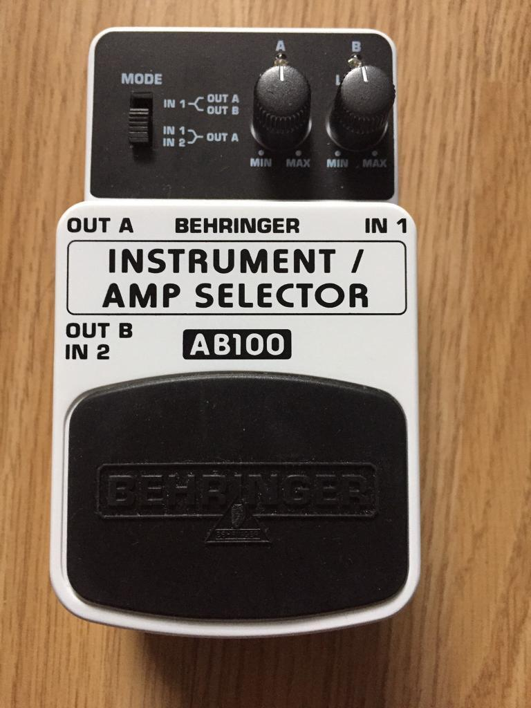 Behringer AB100 Instrument/Amp Selector (mint condition)