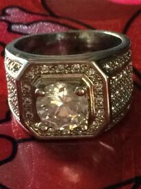Iced out pinky ring!! Cheapp!!! 925 stamped!!!