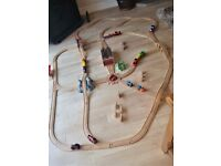 Large Brio train set, 5 battery powered engines. Extensive expensive range of extras.