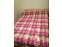 Divan double bed with mattress, drawers included. Smoke free home