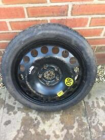 """16"""" 5x110 Space Saver w/ 115/70/16 Continental Tyre"""