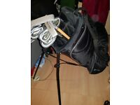 Golf clubs Ryder and more in bag