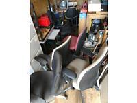 Six swivel chairs