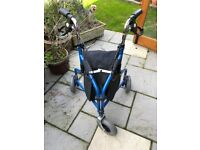 Mobility Walker - 3 Wheeled with zipped shopping bag. Good condition.