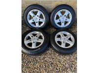 15 inch fox alloys with tyres