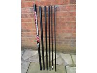8 METRE MARGIN POLE, 7 SECTIONS, IN GOOD CONDITION