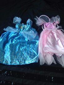 2x girls dressing up costumes, Disneys Cinderella & a fairy princess age 5-6 £4 for them both
