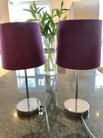2 touch base lamps