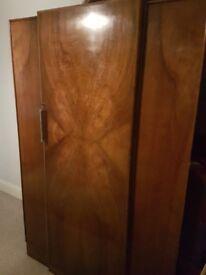 Beautiful Art Deco Wardrobe walnut