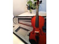 3/4 Violin by Gear4music -hardly used, as new