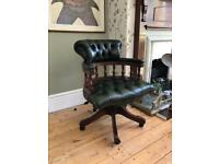 Chesterfield Leather Captains Swivel Chair