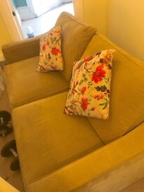 John Lewis Olive Green Sofa Bed - Great Condition