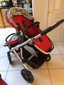 Uppababy vista DOUBLE buggy 2015 Denny red