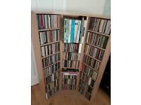 Beech effect cd rack with cds