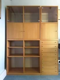 Four IKEA Beech Cabinets