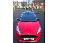 Ford Fiesta 1.0 T EcoBoost Zetec S Red Edition 3dr, black roof and alloys, low mileage, cheap tax