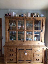 Large rustic pine dresser for sale
