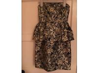 BLACK GOLD ladies peplum dress 8 NEW Be Beau Matalan collection river Topshop newlook