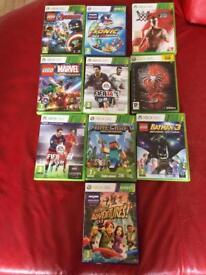 10 x Xbox 360 kids games