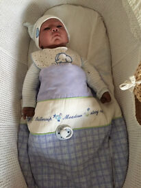 Baby Doll - Darker Skined - New Born - With Crib & Clothes