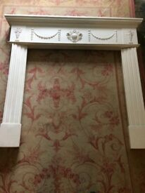 Fireplace Surround (Plaster) in 3 pieces for easy transport