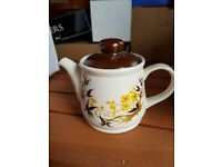 Brown and floral TeaPot