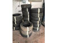 "Job lot 26x part worn tyres 14"" 15"" 16"" & 17"""