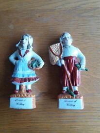 2 figurines of Worthing fisherman & lady