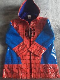 New Disney Spiderman Raincoat Size 5-6yrs. old