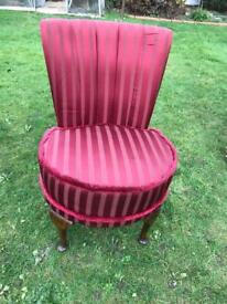 Edwardian mahogany bedroom chair ( can deliver )