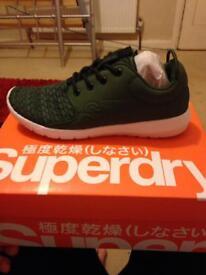 Size 5 bnib superdry khaki trainers